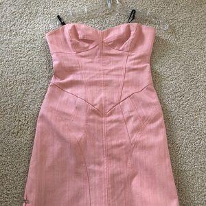 Strapless pink Nicole Miller Dress size 6